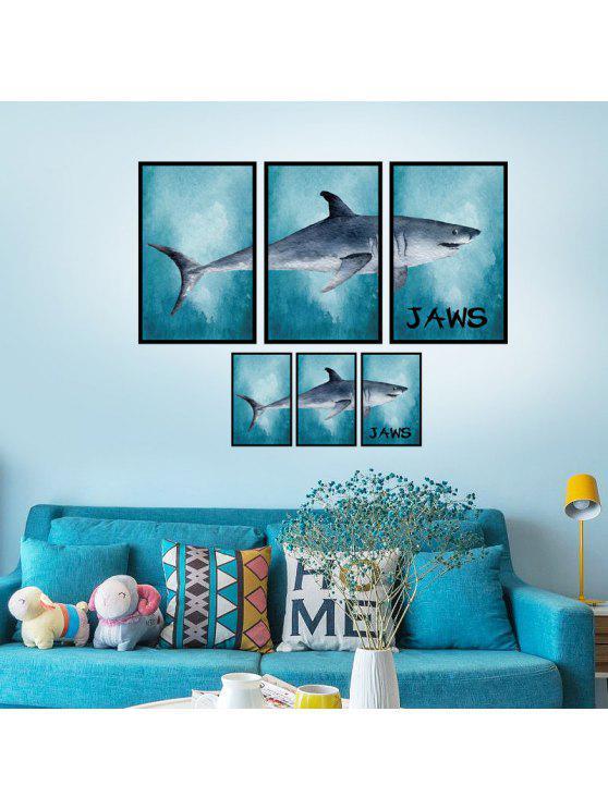 إطار الصورة الربط القرش جدار الفن ملصق - البحيرة الزرقاء 60 * 90CM