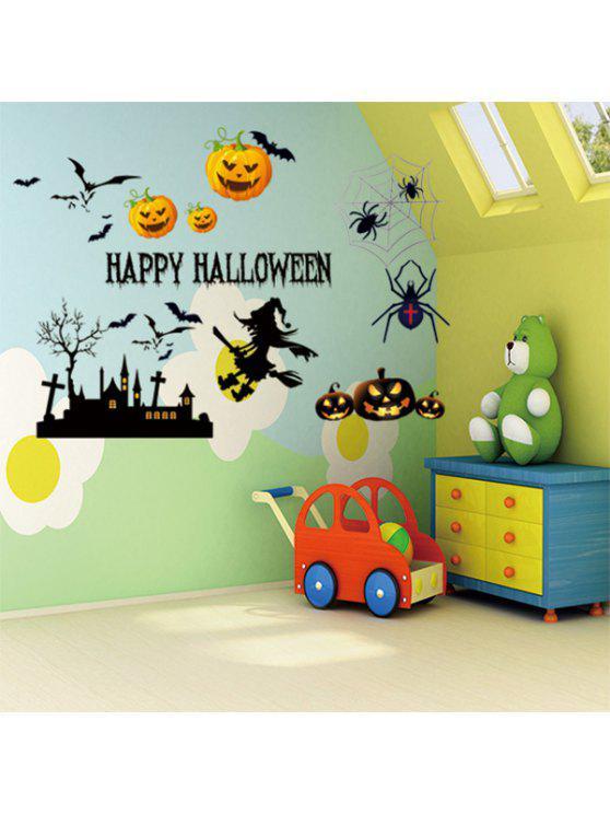 سعيد هالوين الديكور الفينيل الجدار ملصق - Colormix 50 * 70CM