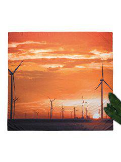 Wall Tapestry Wind Power Beach Throw - Orange