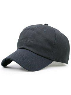 Sombrero De Béisbol Del Bordado Minúsculo De Las Letras - Negro