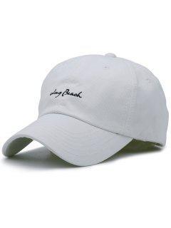Sombrero De Béisbol Del Bordado Minúsculo De Las Letras - Blanco