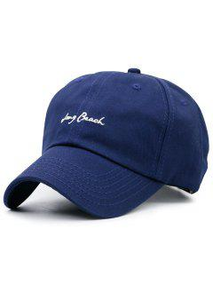 Tiny Letters Embroidery Baseball Hat - Blue