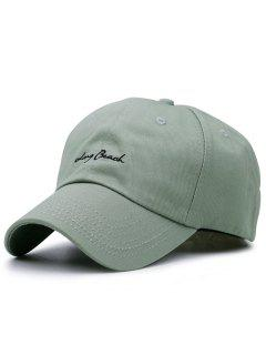 Tiny Letters Embroidery Baseball Hat - Olive Green