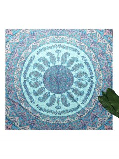 Square Paisley Print Beach Throw