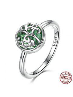 Tree Of Life Heart Sterling Silver Ring - Silver 6