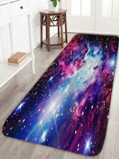 Outer Space Star Print Nonslip Rug - Blue W24 Inch * L71 Inch