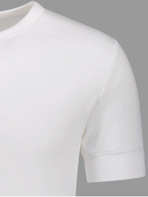 outfit Crewneck Short Sleeve Henley Mens Top - WHITE XL Mobile