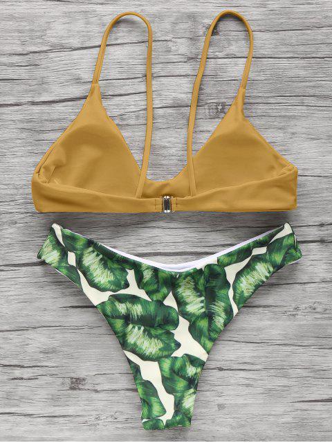 women Spaghetti Straps Palm Tree Bikini - GINGER S Mobile