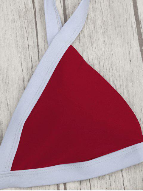 Maillot de bain rembourré à deux tons - Rouge S Mobile