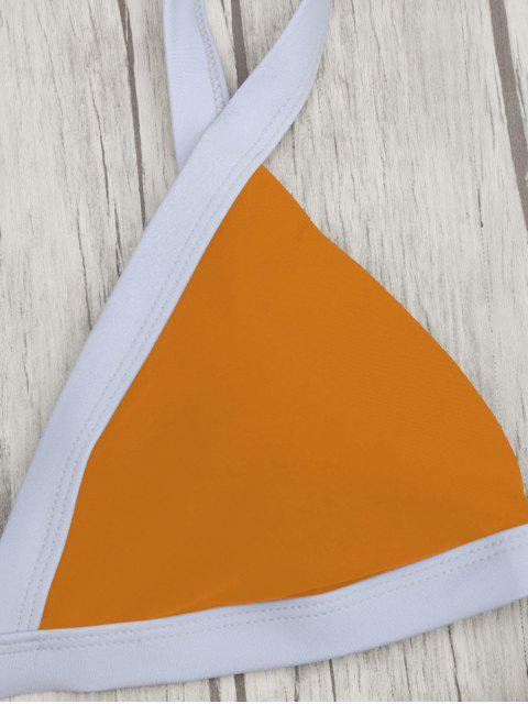 new Two Tone Padded Swimsuit - ORANGE S Mobile