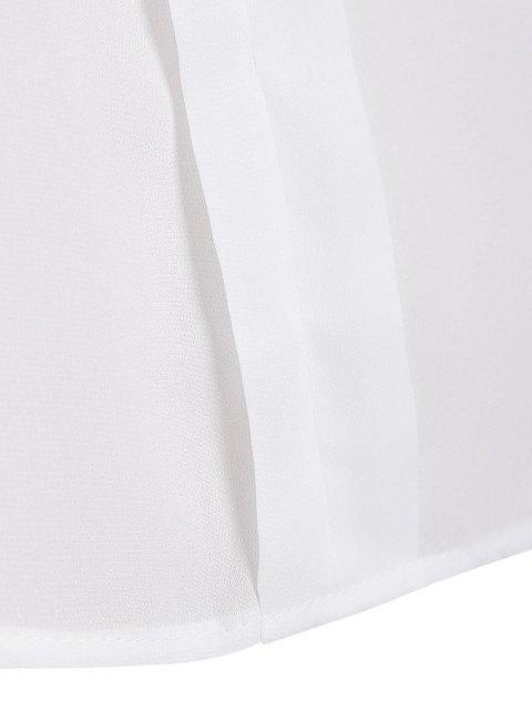 Blouson de poche à grande taille - Blanc 2XL Mobile