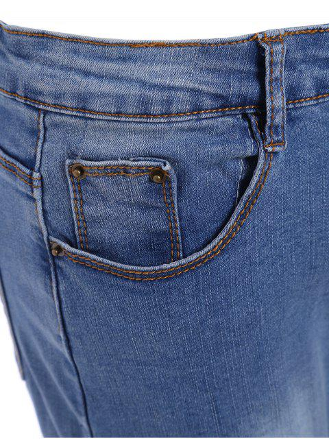 womens Cutoffs Ripped Plus Size Jeans - BLUE 2XL Mobile