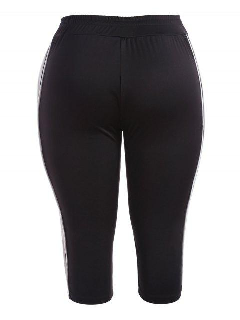 Sports Plus Size Stripes Pantalon - Noir XL Mobile