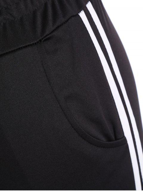 Sports Plus Size Stripes Pantalon - Noir 2XL Mobile