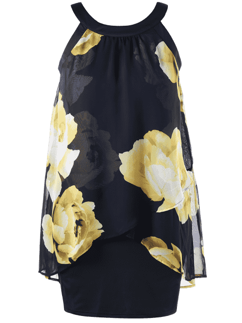 Robe gaine en plus - Jaune 4XL Mobile