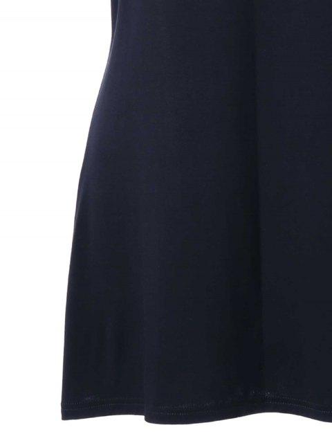 T-shirt à épaule à courte taille - Noir 5XL Mobile