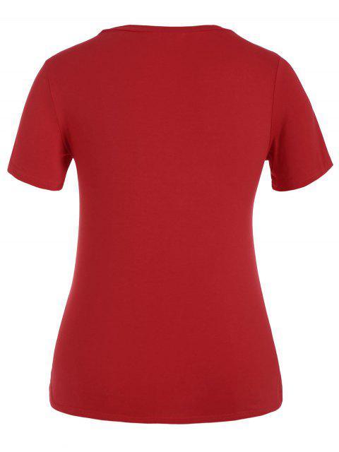T-shirt graphique - Rouge 4XL Mobile