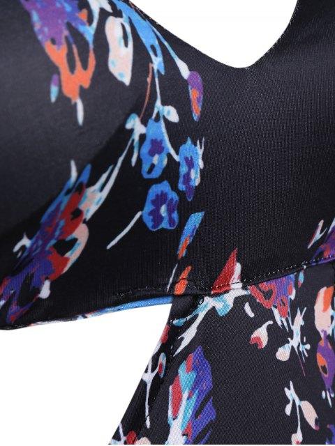 Halter Cut Out Plus Size Robe Maxi rembourrée - Noir 3XL Mobile