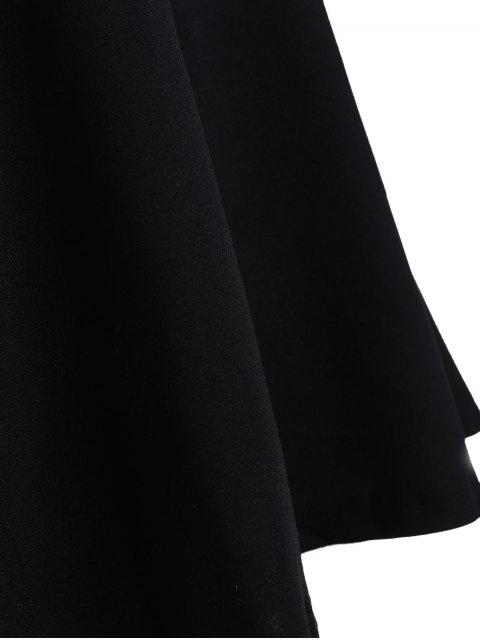 Robe de mariée de patineuse taille grande - Noir 4XL Mobile