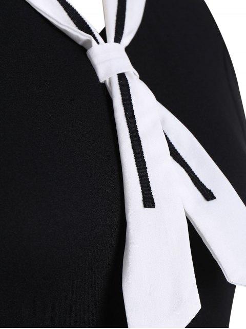 Robe de mariée de patineuse taille grande - Noir 5XL Mobile