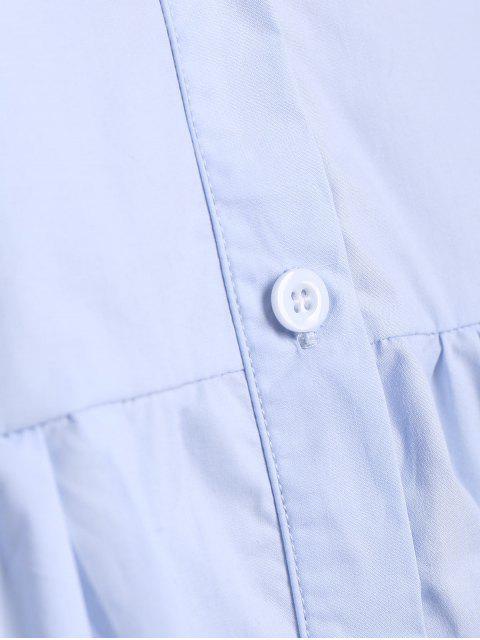 Robe à manches longues à manches longues - Bleu Ciel 2XL Mobile