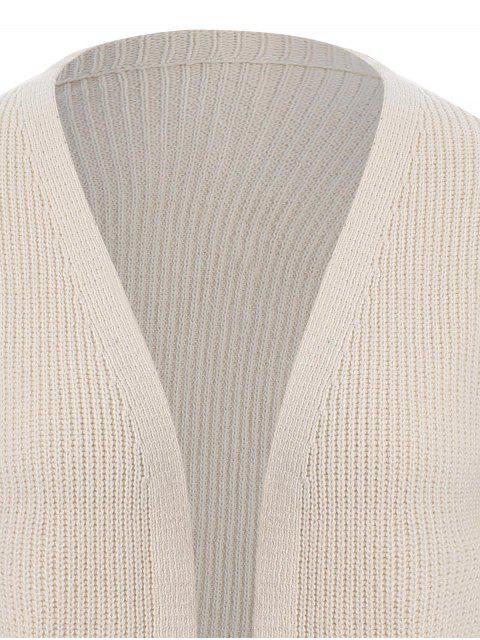 Cardigan brodé à l'avant - Blanc Cassé TAILLE MOYENNE Mobile