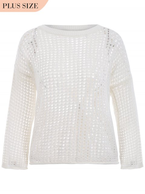 Tricots taille grand taille - Blanc TAILLE MOYENNE Mobile