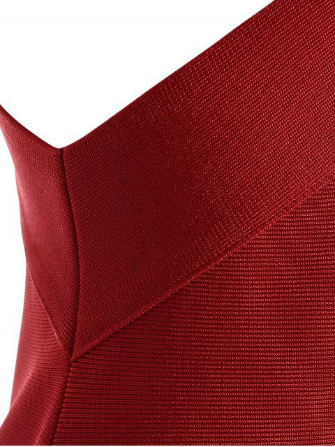 new Cut Out Fitted Bandage Dress - RED M Mobile