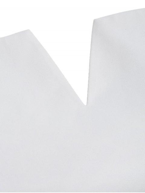 Robe d'une épaule - Blanc XL Mobile