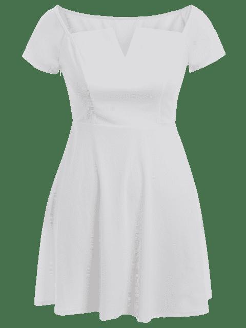 Robe d'une épaule - Blanc 3XL Mobile