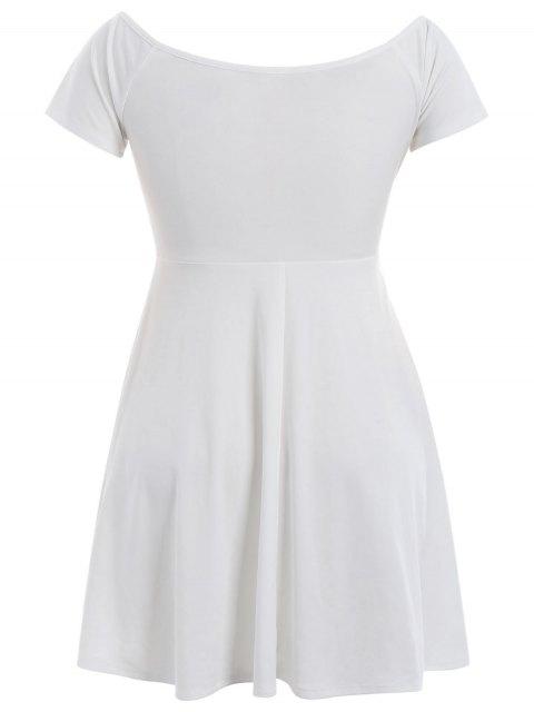 Robe d'une épaule - Blanc 4XL Mobile
