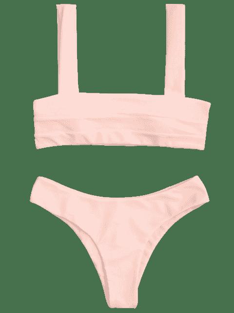 Dessous et bas de bikini rembourrés Bandeau - Rose Clair S Mobile