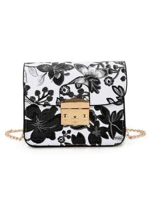 Sac Floral Cross Chain Mini - Noir  Mobile
