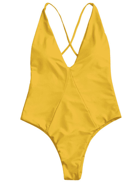 lady High Cut Cross Back Swimwear - GINGER M Mobile