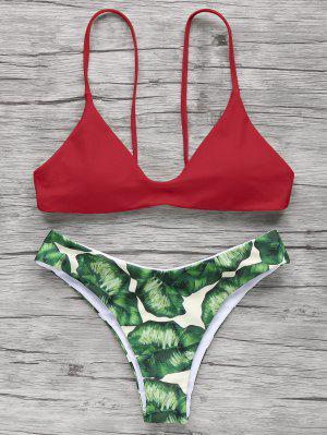 Spaghetti Straps Palm Tree Bikini
