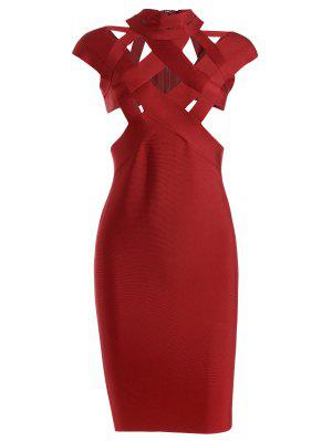 Cut Out Fitted Bandage Dress