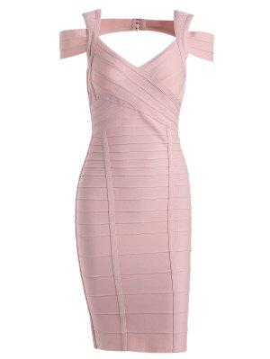 Sweetheart Neck Cut Out Bandage Dress