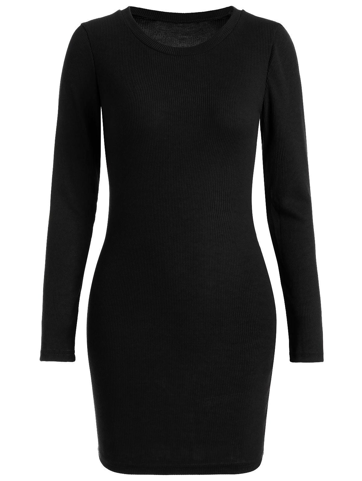 Ribbed Mini Bodycon Knitted Dress 219025206
