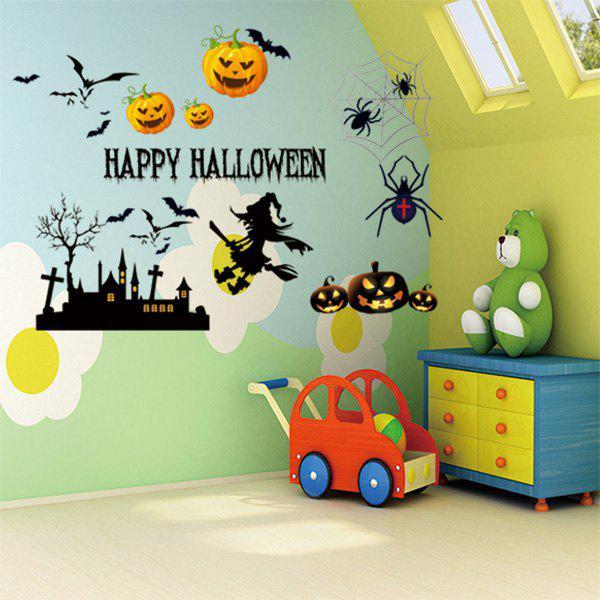 Autocollant décoratif en vinyle décoratif Happy Halloween