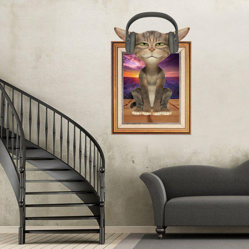 3D Cat Photo Frame Animal Wall Sticker For Kids 219637001