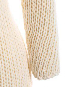 cf9e8189d2c ... Plus Size Sheer Chunky Sweater. shops Plus Size Sheer Chunky Sweater -  OFF-WHITE 3XL