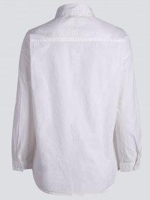 De Blanco 5xl Talla Bordada Camisa Floral Grande zqZ88a