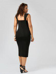 lace up bodycon plus size midi dress black: plus size dresses 2xl
