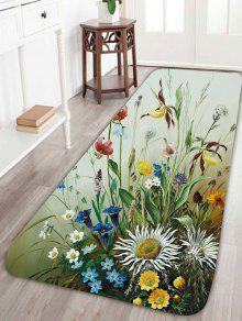 الطيور طباعة الأزهار المرجان الصوف البساط - اخضر فاتح W24 بوصة * L71 بوصة