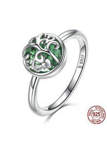 Tree Of Life Heart Sterling Silver Ring - Silver 8