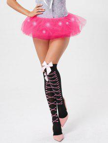 Tier Mesh Light Up Ballet Cosplay Skirt - Deep Pink