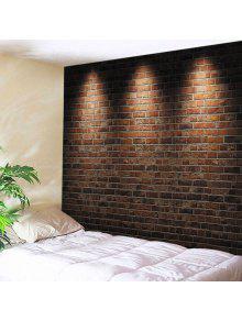 الجدار شنقا الفن ديكور ضوء الطوب جدار طباعة نسيج - قرميد احمر W91 بوصة * L71 بوصة