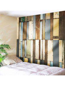خمر الخشب مجلس رمي جدار نسيج - W71 بوصة * L91 بوصة