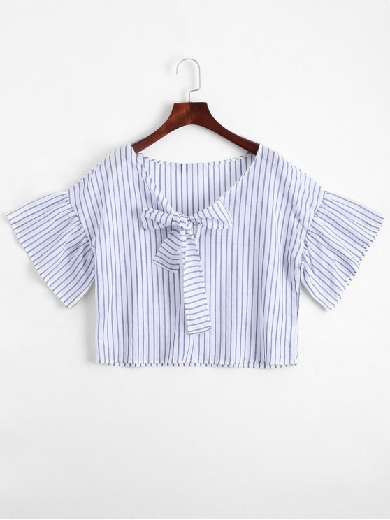 Loose Bowknot Striped Top - Raya XL