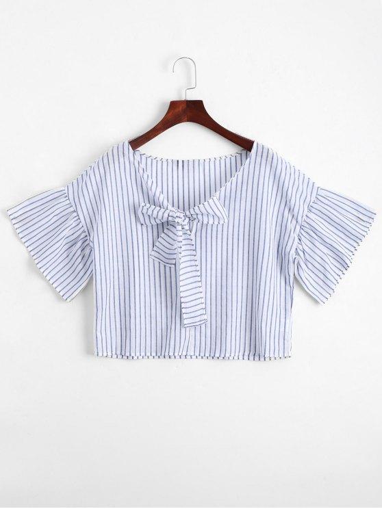 Loose Bowknot Striped Top - Raya L
